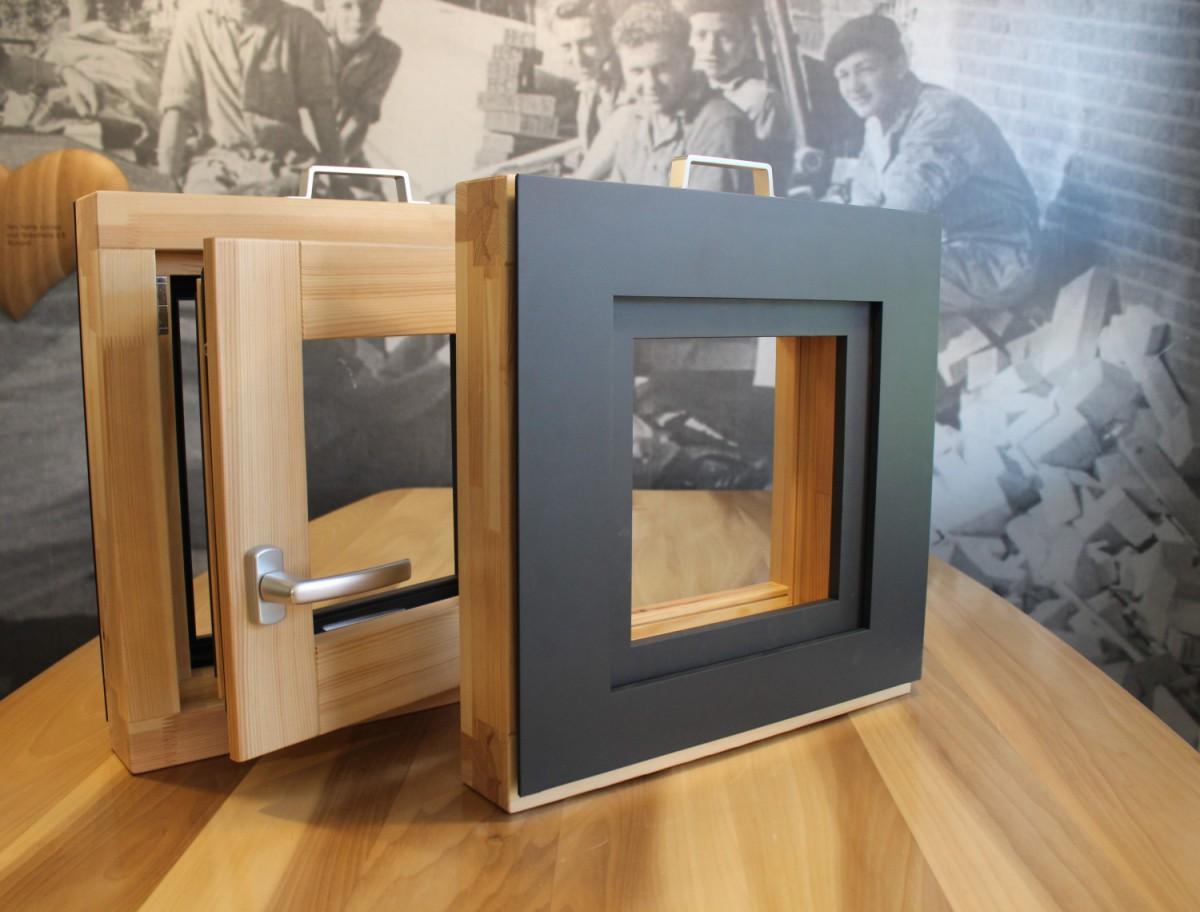 Groothuis selekt kozijn hybride hout aluminium 12 uitsnede
